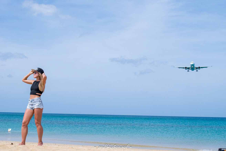 หาดไม้ขาว ภูเก็ต ความสวยงามของทะเลบวกกับวิวที่เครื่องบินแล่นผ่านทำให้เราได้รูปสวยๆติดทั้งทะเลทั้งเครื่องบินกันมาครับภูเก็ต,ที่พัก,โรงแรม,รีสอร์ท,สถานที่ท่องเที่ยว,ของกิน,จุดเช็คอิน,ที่เที่ยว,จุดถ่ายรูป