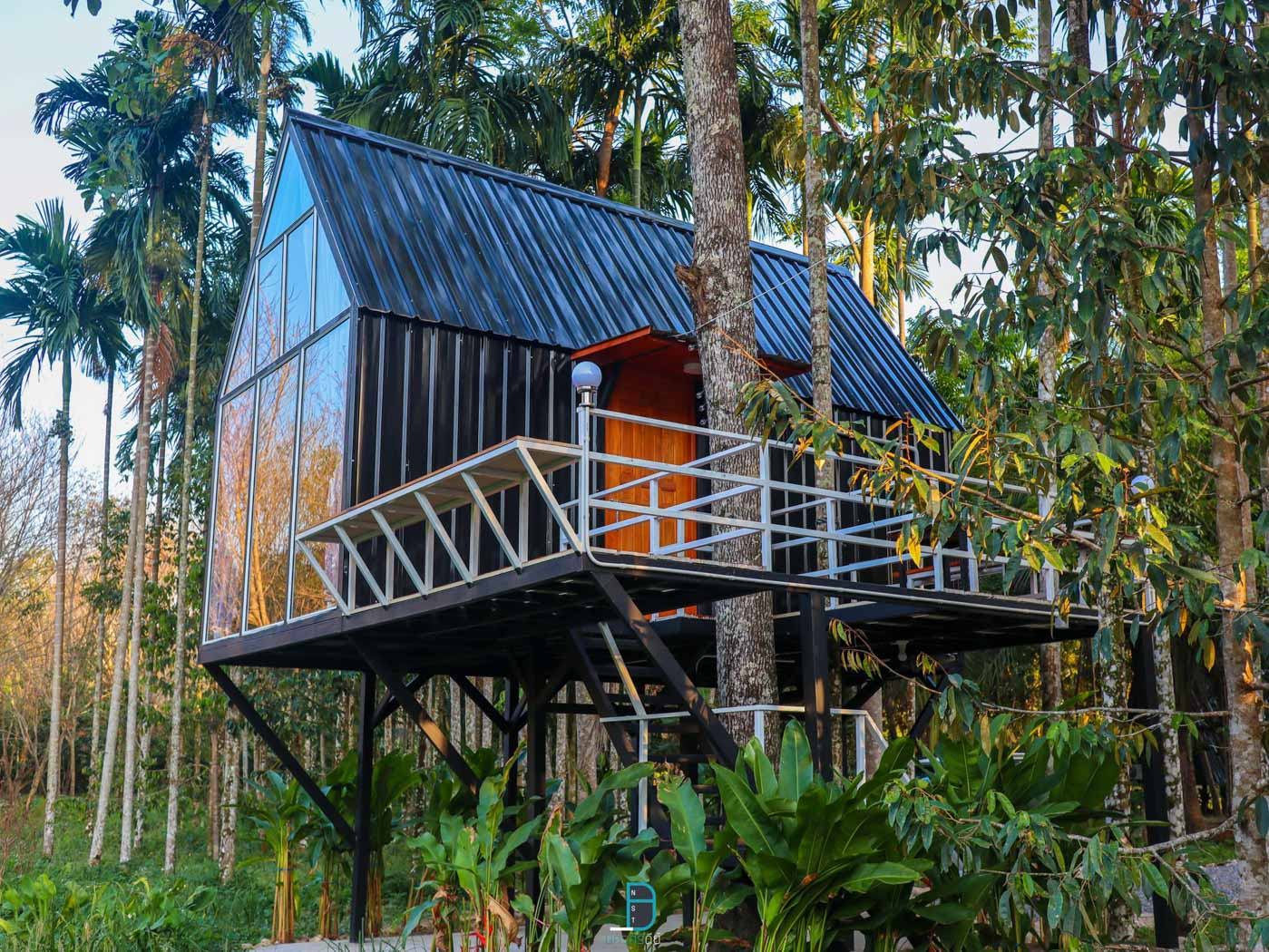 Lyn Cafe Copter Chill Resort จุดเช็คอินคาเฟ่สุดสวยพร้อมที่พักริมลำธาร at ช้างกลาง นครศรีดีย์