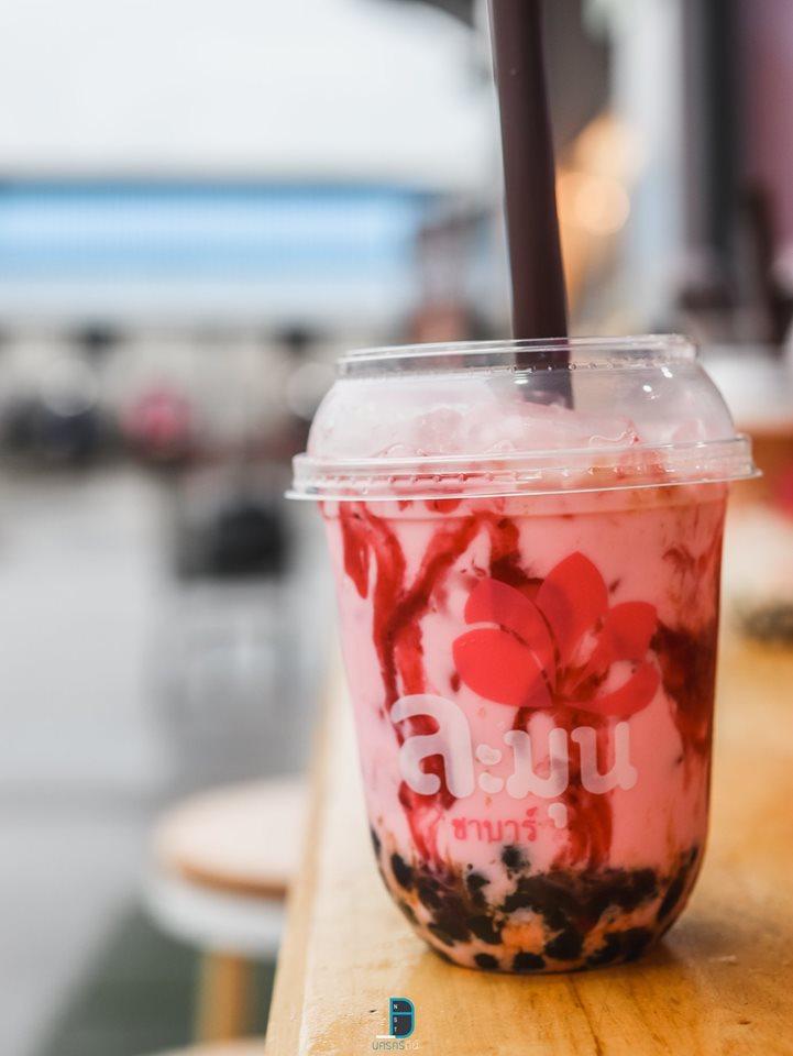 ละมุน ชาบาร์ ชาไข่มุกโทนพาสเทลน่ารักๆ สีชมพูวว หน้าแมคโคร นครศรีธรรมราช นครศรีดีย์