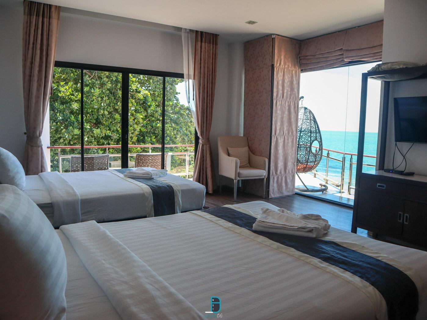 ห้องพัก-ห้อง-Top-ชั้น-3-เตียงใหญ่-2-เตียงวิวทะเล  ประสานสุข,วิลล่า,บีช,รีสอร์ท,นครศรีธรรมราช,ที่พัก,สิชล