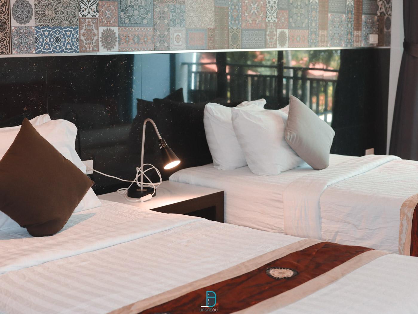 ห้องพักโทนขาวสวยๆ  ประสานสุข,วิลล่า,บีช,รีสอร์ท,นครศรีธรรมราช,ที่พัก,สิชล