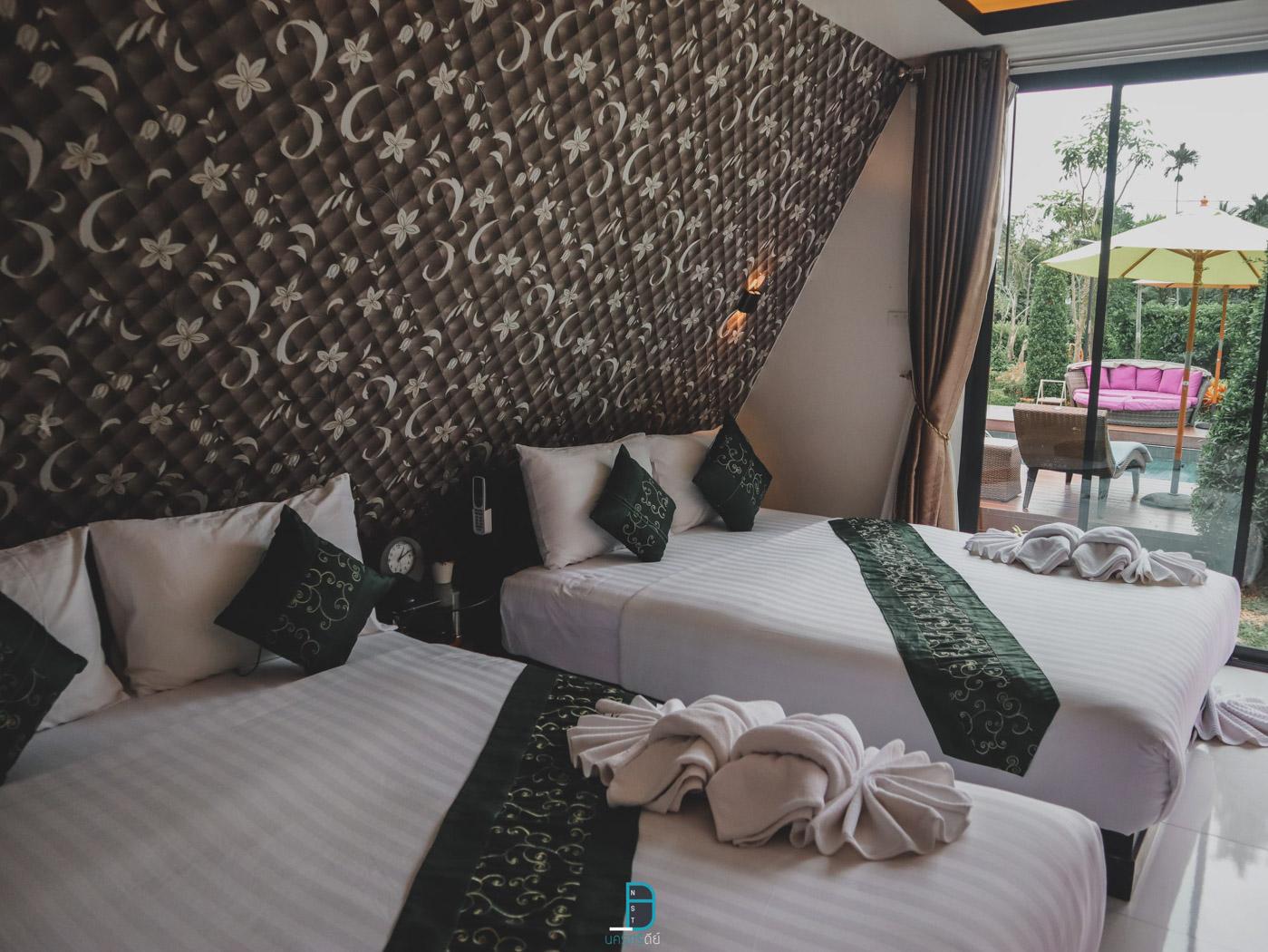ห้องเตียงใหญ่ 2 เตียง เหมาะสำหรับ 4 ท่าน จะมากับกลุ่มเพื่อนหรือครอบครัวก็ฟินนสุภานันท์,รีสอร์ท,ที่พัก,วิวหลักล้าน,คาเฟ่,โรงแรมมีสระว่ายน้ำ,สวยงาม,poolvilla