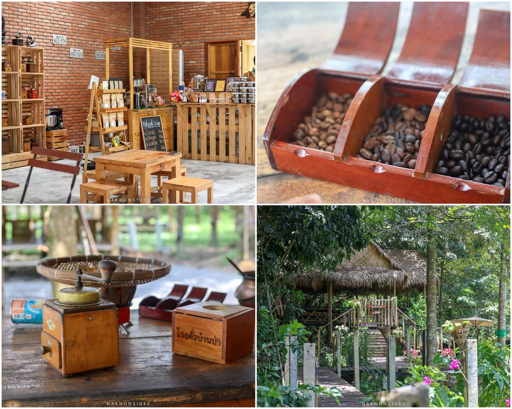 11.-โรงคั่วบ้านป่า-เป็นทั้งร้านกาแฟแนวป่าๆ-และมีให้่บดและทำกาแฟเองด้วยน้าา ที่เที่ยว,ที่พัก,พัทลุง,การท่องเที่ยว,ประเทศไทย,วิถีชีวิต,ชุมชน,ดริฟท์กาแฟ