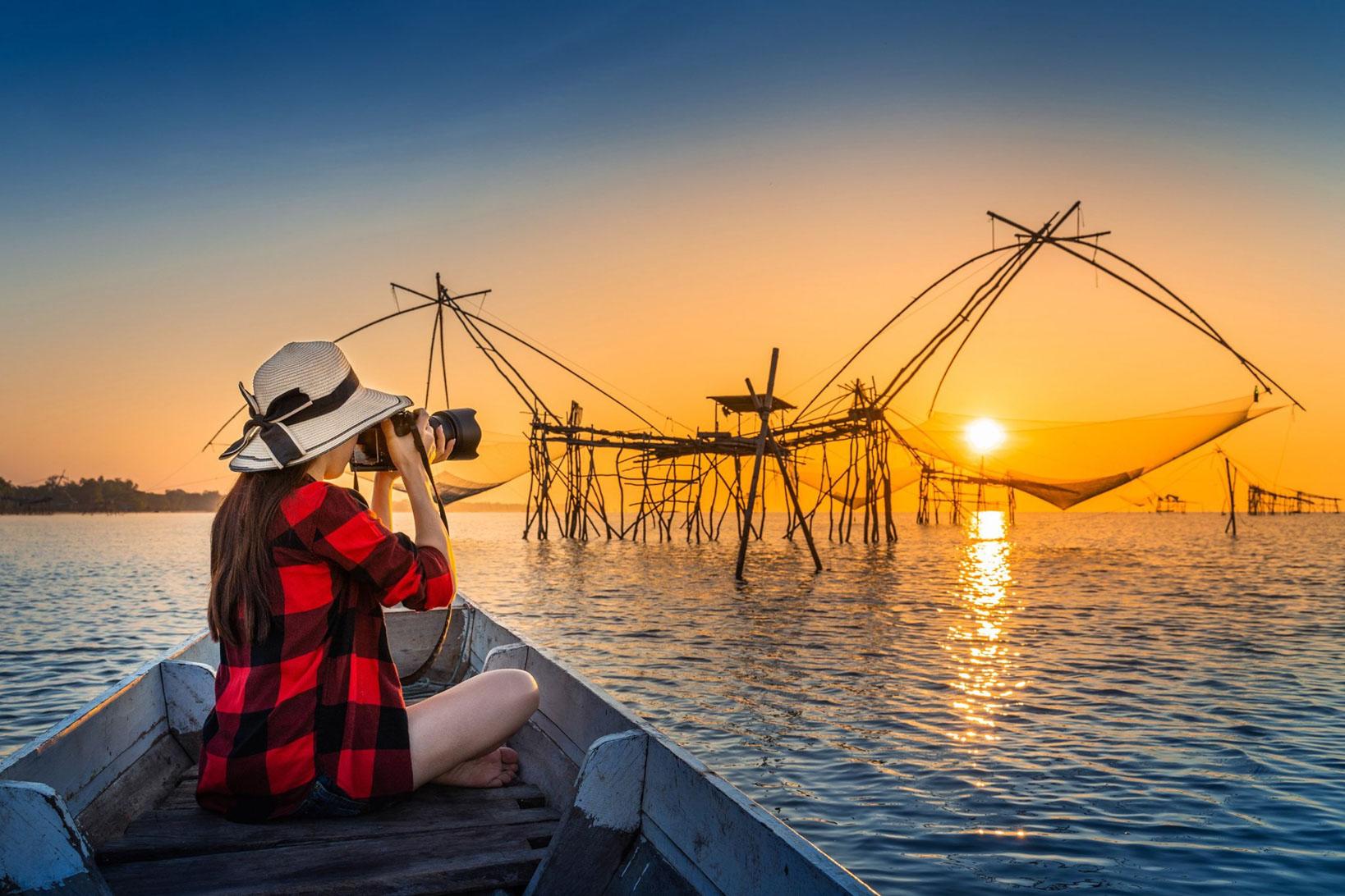 ล่องเรือถ่ายรูปสวยๆ ที่เที่ยว,ที่พัก,พัทลุง,การท่องเที่ยว,ประเทศไทย,วิถีชีวิต,ชุมชน,ดริฟท์กาแฟ