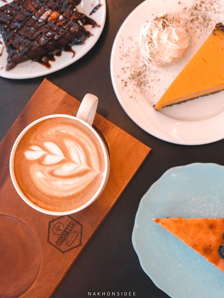 กาแฟ เค้กฟักทอง อร่อยเด็ดดด บราวนี่คอเร็ทโต้,Corretto,ร้านกาแฟ,คาเฟ่,ใจกลางเมือง,อร่อย,ช็อกโกแลต,มัจฉะ,ชาเขียว