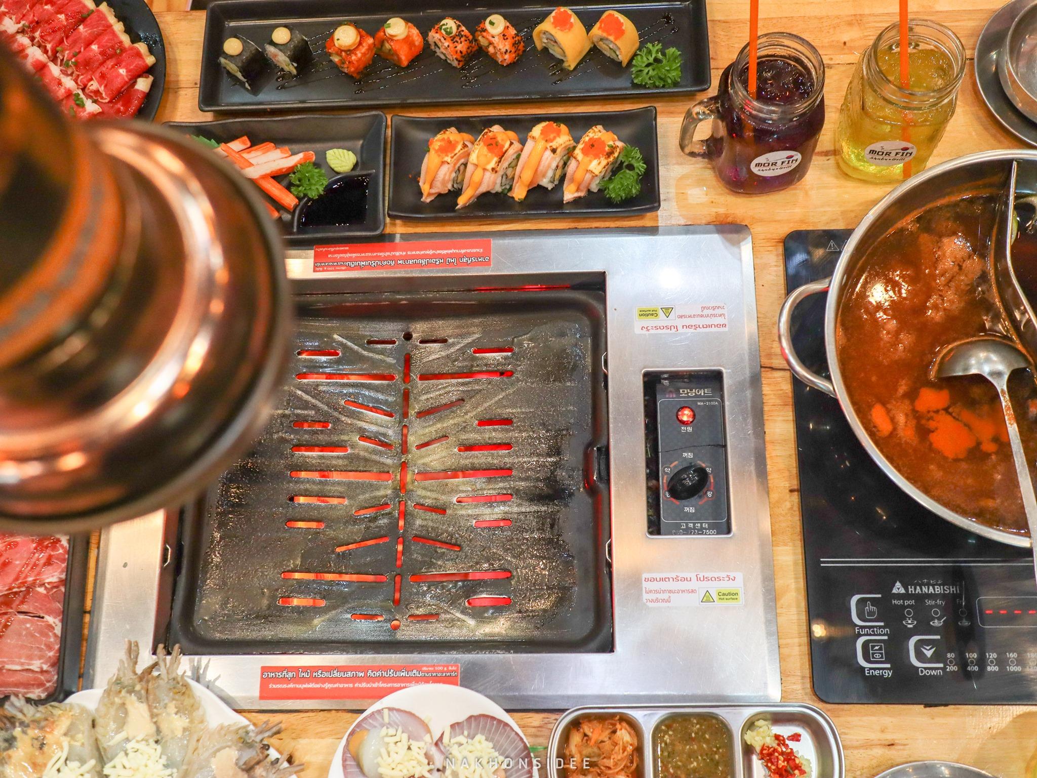 ชาบู,ปิ้งย่าง,มอฟิน,นครศรี,กุ้งย่างชีส,อร่อย