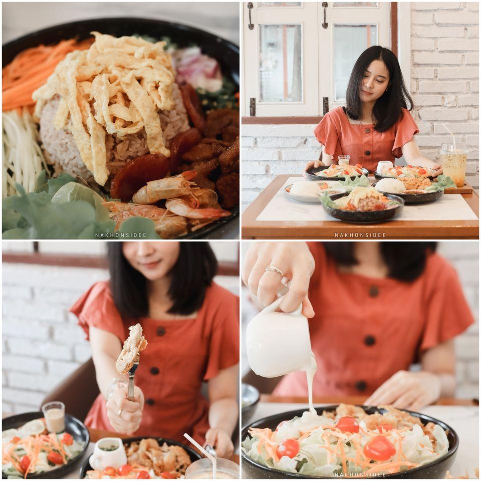 เมนูเด็ด-คือน้อนบอกว่าชอบข้าวคลุกกะปิ-อร่อยมวากกก-สลัดก็น้ำสลัดเด็ดเลยครับ โกโก้,ช็อกโกแลต,ภาราดัย