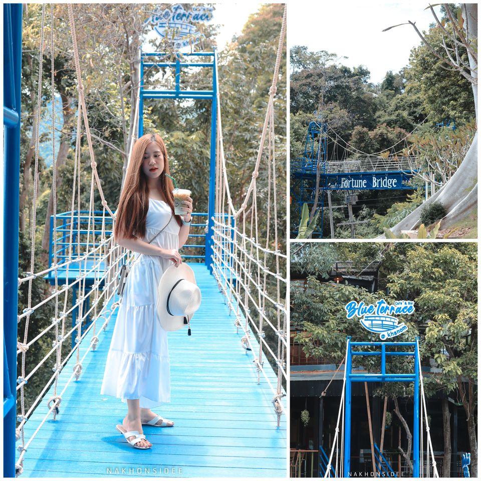 เริ่มกันเลยกับจุดเช็คอินถ่ายรูปที่เด็ดที่สุดในชั่วโมงนี้-จุดสะพาน-Fortune-Bridge-ที่-Blue-Terrace-ถือว่าลงทุนมวากกก-คาเฟ่ที่ลงทุนระดับนี้-เอาไปเลย-10/10 ขนอม,นครศรีธรรมราช,ฺBlueterrace,ของกิน,ร้านอาหาร,คาเฟ่,อร่อย