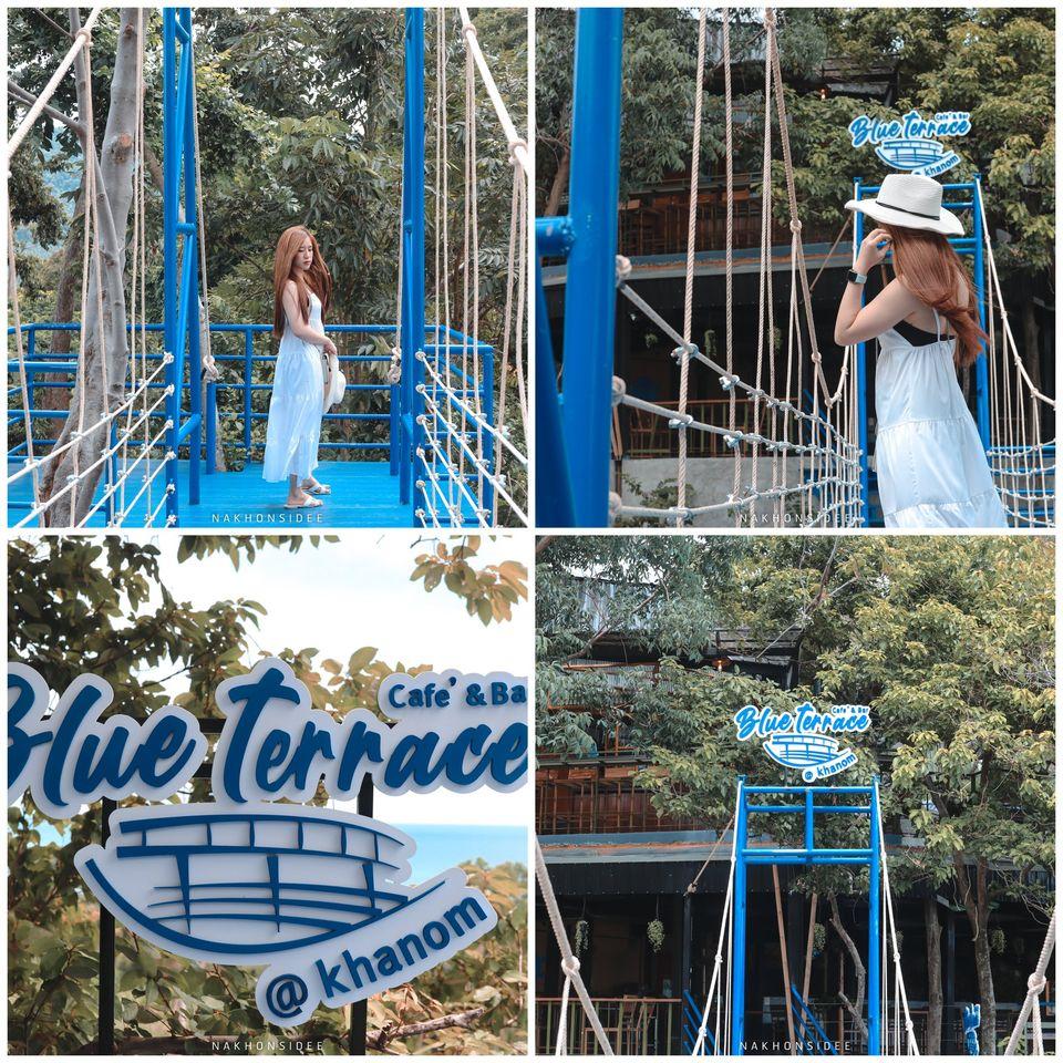 จุดถ่ายรูปสะพานสีน้ำเงิน-จัดได้ว่า-มานครศรี-ต้องมาสะพานนี้ครับ-อิอิ ขนอม,นครศรีธรรมราช,ฺBlueterrace,ของกิน,ร้านอาหาร,คาเฟ่,อร่อย