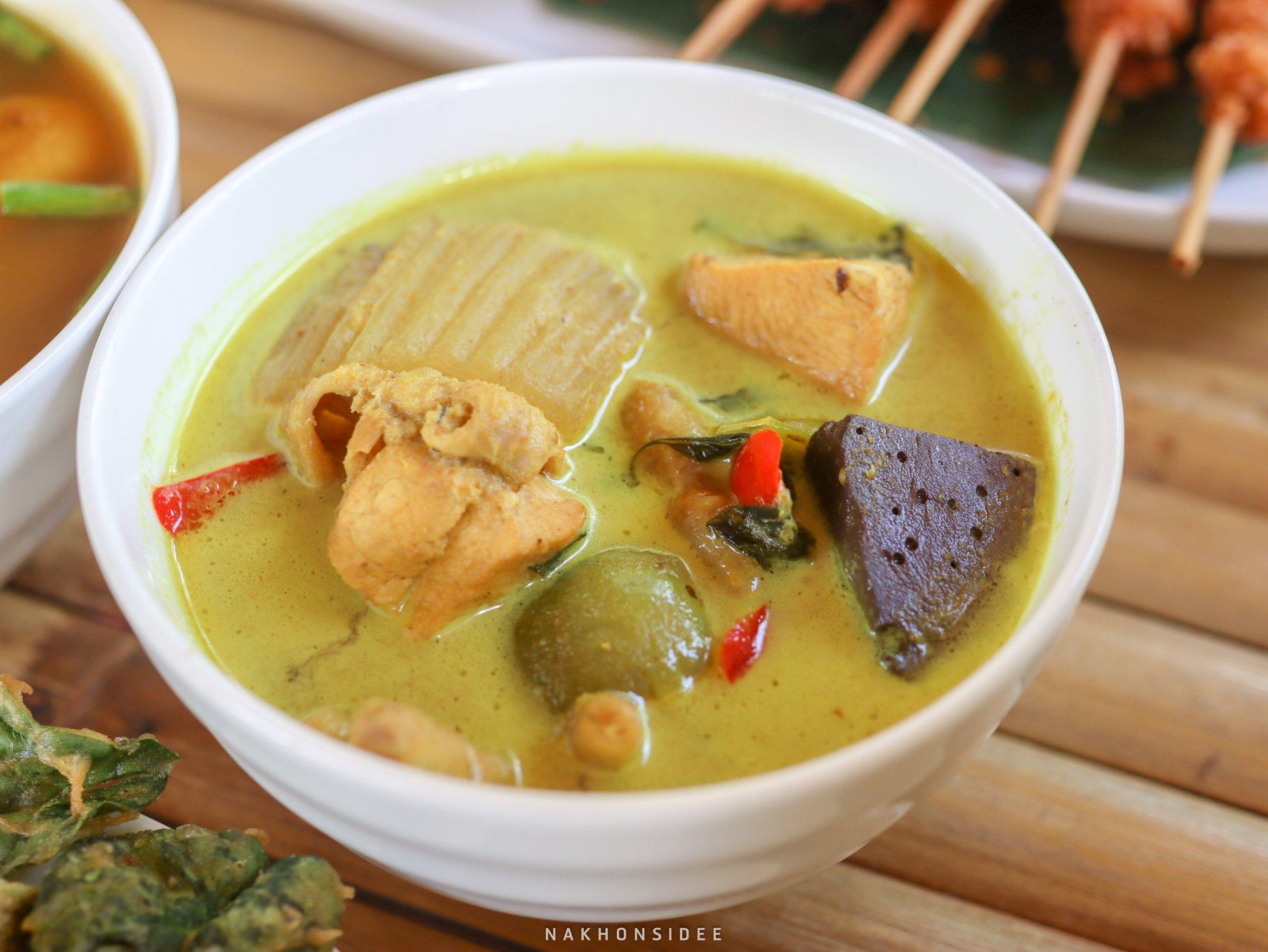 ขนมจีนแกงเขียวหวาน-อร่อย  ขนมจีน,ลานสกา,ขุนทะเล,ของกิน,อร่อย,เด็ด,นครศรีธรรมราช