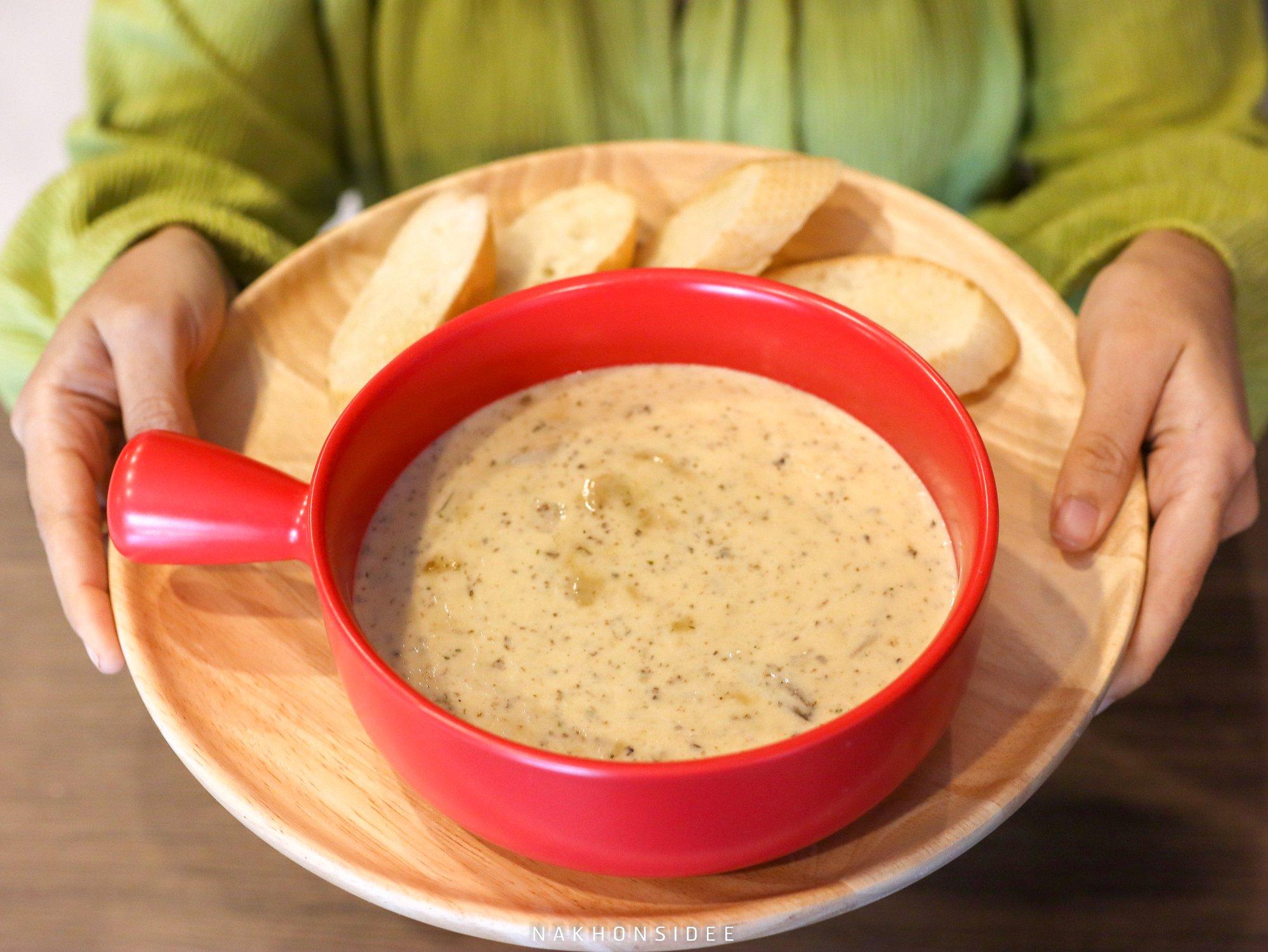 ซุปเห็ด อาหาร,เครื่องดื่ม,เกาหลี,ญี่ปุ่น,อาหารไทย,ฝรั่ง,คาเฟ่,นครศรีธรรมราช