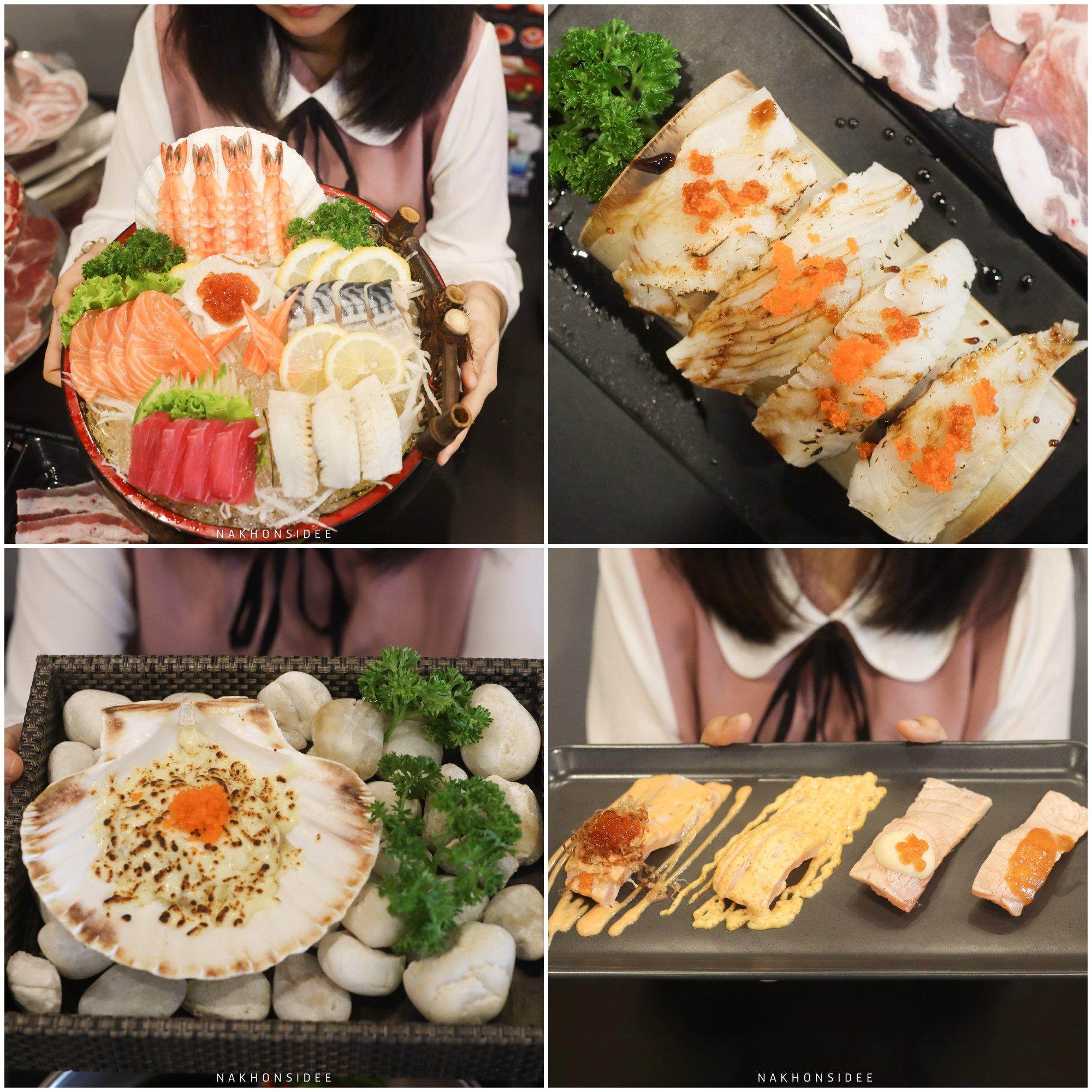 ซาซิมิ-ซูชิ-อาหารญี่ปุ่น-จัดว่าเด็ดมากกก-หอยชีส-ซูชิชิ้นใหญ่-ข้าวปั้นน้อย-จัดว่าถูกใจแอดมาก-10/10-มาบุฟเฟ่ต์ต้องแบบนี้-ข้าวคำเล็กๆพอ-555  ชาบู,บุฟเฟ่ต์,นครศรีธรรมราช,อาหารญี่ปุ่น,ของหวาน
