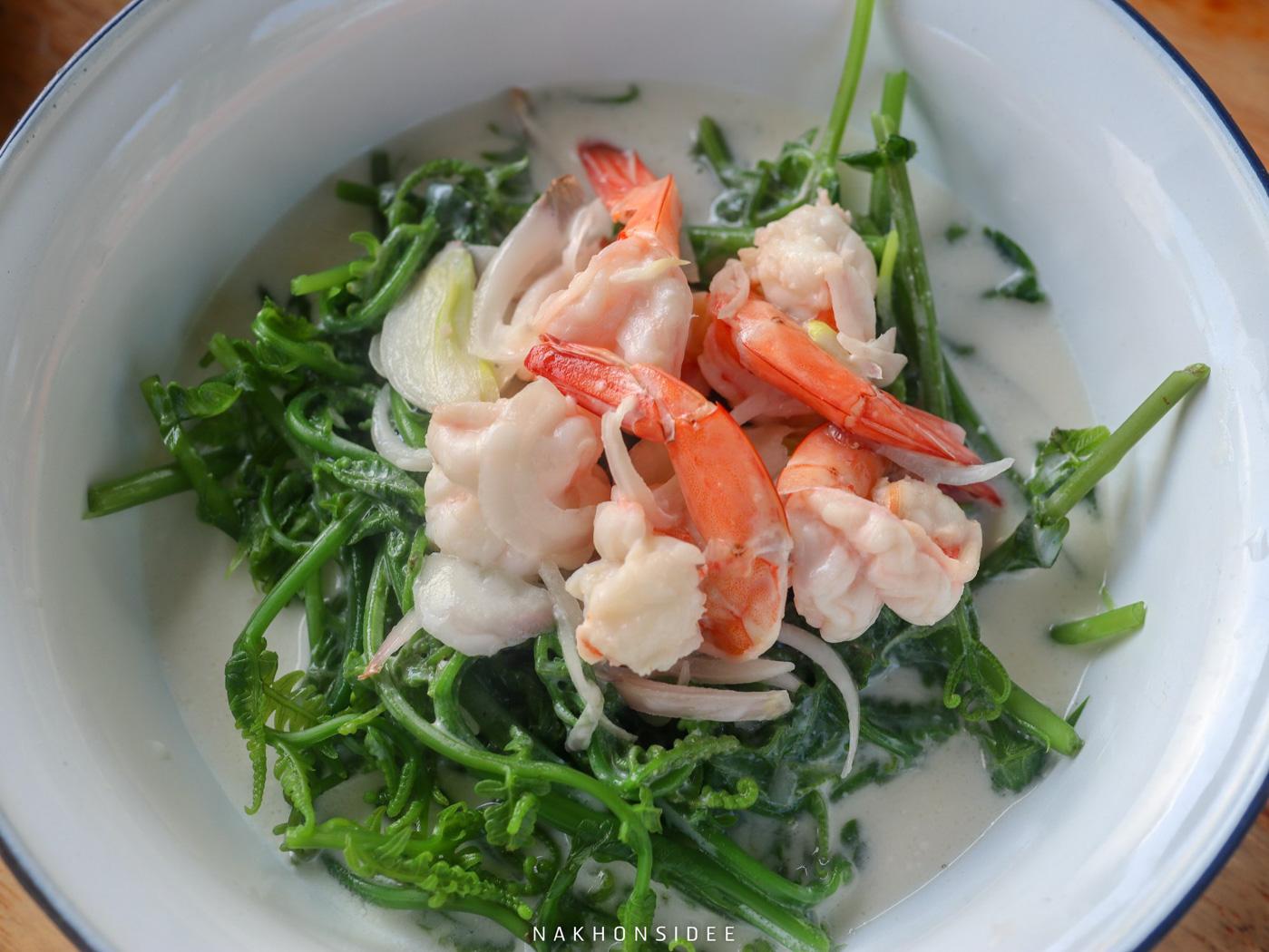 ยำผักกูดกุ้งคืออร่อยยยย ท่าศาลา,ที่เที่ยว,จุดเช็คอิน,ที่พัก,ของกิน,อร่อย,เด็ด