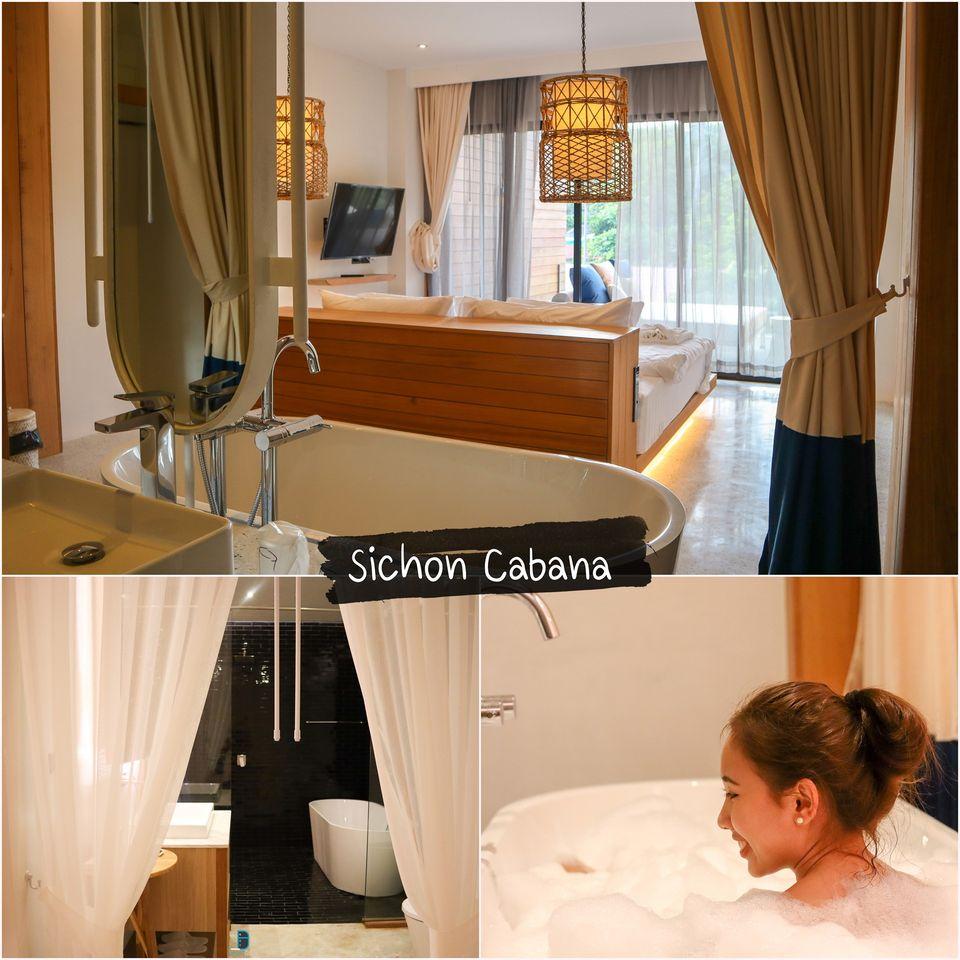 Sichon-Cabana-สิชลคาบาน่า โรงแรม-รีสอร์ทสวยๆ-ริมทะเลสไตล์-Modern-กันครับ-เริ่มกันเลยที่นี่ชื่อว่า--สิชล-คาบาน่า--ด้วยการตกแต่งด้วยรูปแบบใหม่ๆแต่ใช้วัสดุสวยๆจากท้องถิ่นให้บรรยากาศที่เรียกได้ว่าเป็นฟิลลิ่งที่มีเอกลักษณ์เฉพาะตัวของที่พักเลยครับ-ในส่วนของบรรยากาศบอกเลย-10/10-ห้องพักมีหลายแบบหลาย-Type-รับรองมาพักหลายรอบก็ไม่เบื่อ-ทั้งห้องริมสระน้ำ-ห้องพัก-Seaview-ห้อง-Honeymoon-ห้องครอบครัวแบบต่อกัน-ห้องพักสไตล์มินิมอลก็มีหมด-ขอบอกว่าหลากหลายรูปแบบจริงๆ-รีวิวกันต่อภายในห้องพักตกแต่งสวยงามด้วยวัสดุอย่างดี-สระว่ายน้ำสะอาด-มีพื้นที่ปาร์ตี้เล็กๆริมสระ-นั่งชิวๆจิบเครื่องดื่มฟินๆกันได้เลยย-รีวิวกันต่อภายในโรงแรมมีคาเฟ่สวยๆ-ชื่อว่า--Blue-Surf-Cafe--เป็นคาเฟ่ชิคๆเช่นเดียวกัน-เครื่องดื่มเบเกอรี่พรีเมี่ยม-และยังมีร้านอาหารด้วยนะครับ-ขอบอกว่ามาที่นี่ครบจริงๆ-ประทับใจแน่นอนครับ  ที่พัก,ใกล้วัดเจดีย์,ตาไข่,ตาพรานบุญ,นครศรีธรรมราช,สิชล,ขนอม
