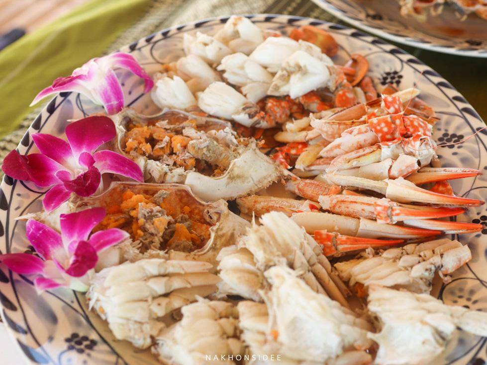 เนื้อปูแกะ-อร่อยๆ-แบบล้วนๆ-10/10  ที่พัก,สิชล,ใจดีรีสอร์ท,สุดสวย,วิวทะเล,สไตล์เรือนไทย