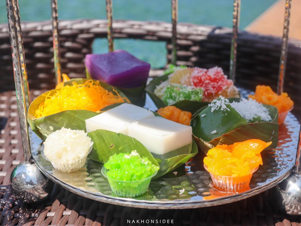 เรือนไทยก็ต้องมีอาหารไทยลอยน้ำ-อร่อยเช่นกันน  ที่พัก,สิชล,ใจดีรีสอร์ท,สุดสวย,วิวทะเล,สไตล์เรือนไทย