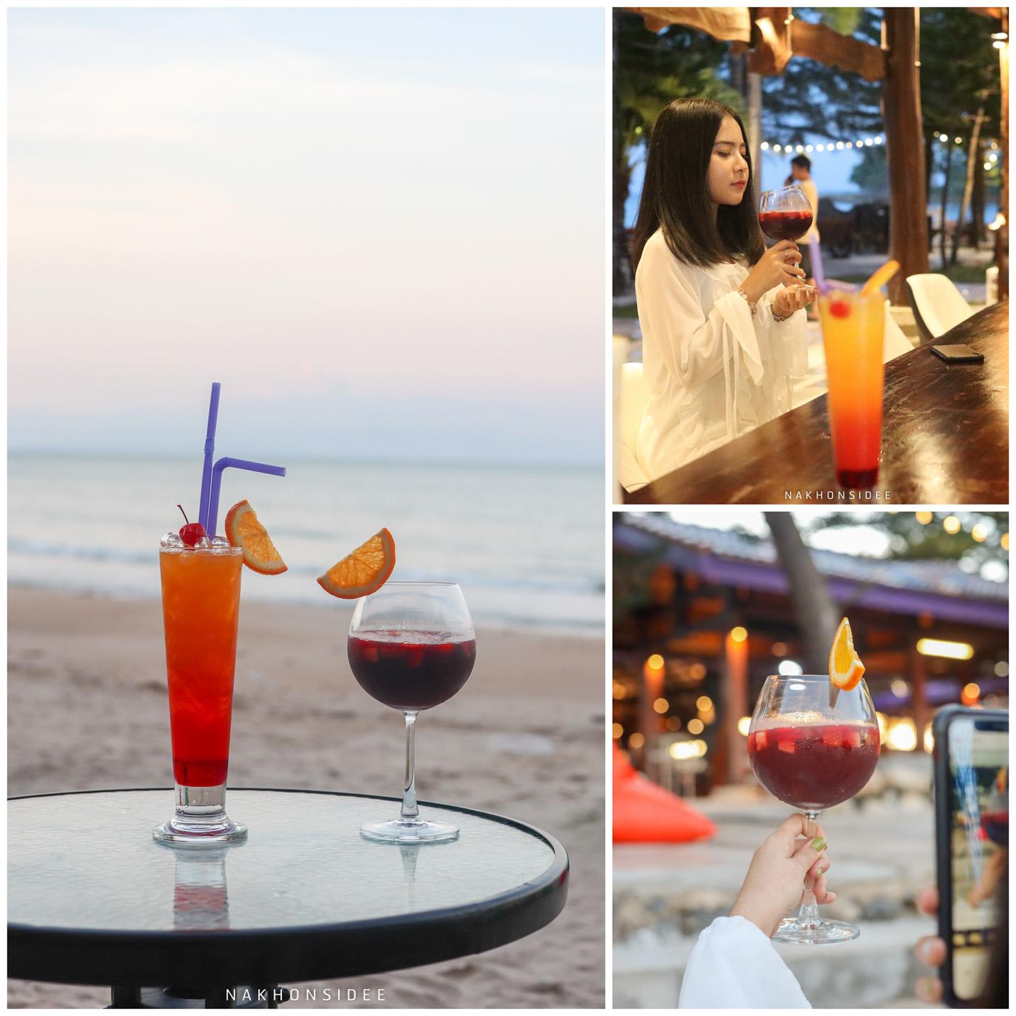หน้าหาดบรรยากาศดี-พร้อมเครื่องดื่มอร่อยย  อ่าวสิชล,ซีฟู๊ด,ของกิน,ร้านอาหารทะเล,ริมทะเล,สิชล