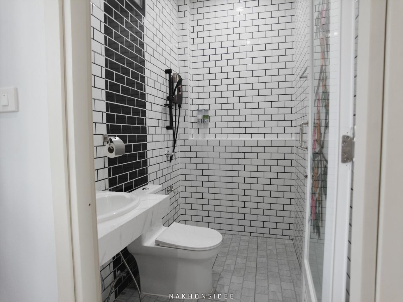 ห้องน้ำแบบ โมเดิร์นน เจดีย์รีสอร์ท,ที่พักใกล้วัดเจดีย์,ตาไข่,ริมรั้ว,เดินถึง