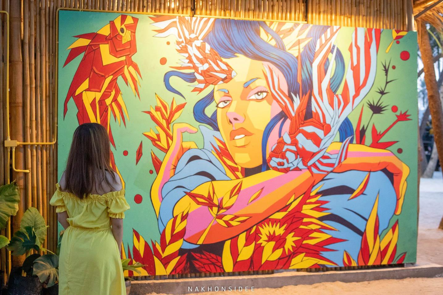 ผลงานภาพวาดจากจิตรกรระดับประเทศ ลายเส้นดีย์ ละเอียดมาก ของจริงสวยมากกก แอดว่าจะขอซื้อประมูลกลับบ้านละเนี่ย หยอกๆ อิอิ คาเฟ่,ริมทะเล,สิชล,นครศรี,มาดูเลย์,MADoเลย์,ใกล้วัดเจดีย์,ตาไข่