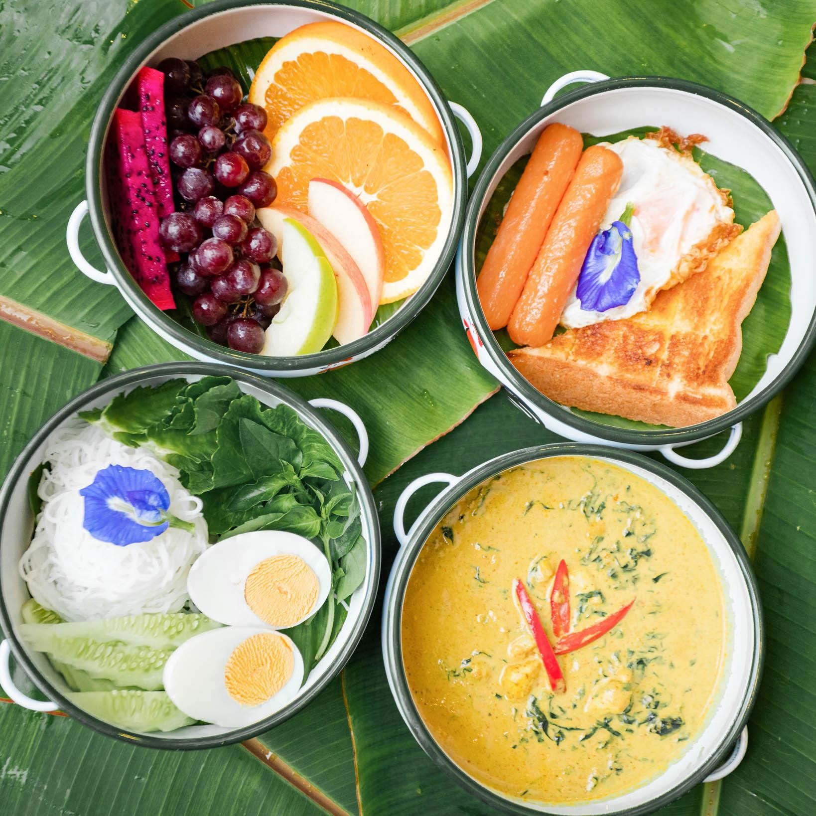 อาหารเช้าฟินๆ-สไตล์ปักษ์ใต้-ขนมจีนแกงปู-บอกเลยว่าสุดๆ  บ้านขุนเล,ขุนเลคอฟฟี่,ลานสกา,นครศรี,ที่พักเปิดใหม่,รีสอร์ท