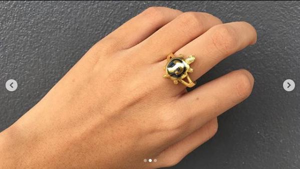 แหวนนโมเต่าถมทอง
